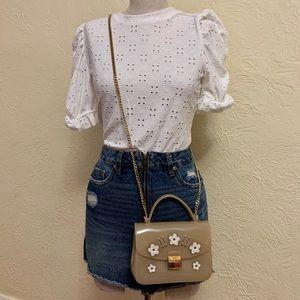 authentic furla mini jelly purse